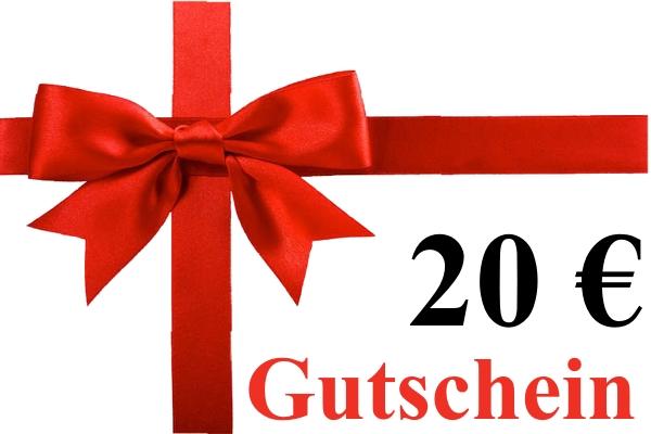 Geschenk-Gutschein über 20,00 Euro