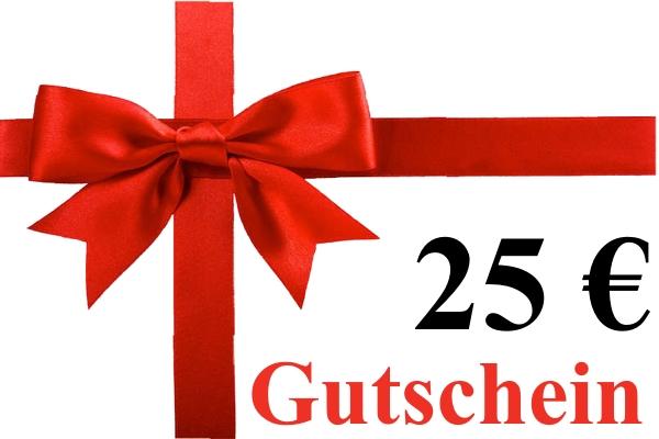 Geschenk-Gutschein über 25,00 Euro