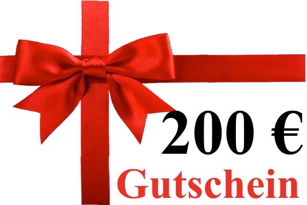 Geschenk-Gutschein über 200,00 Euro