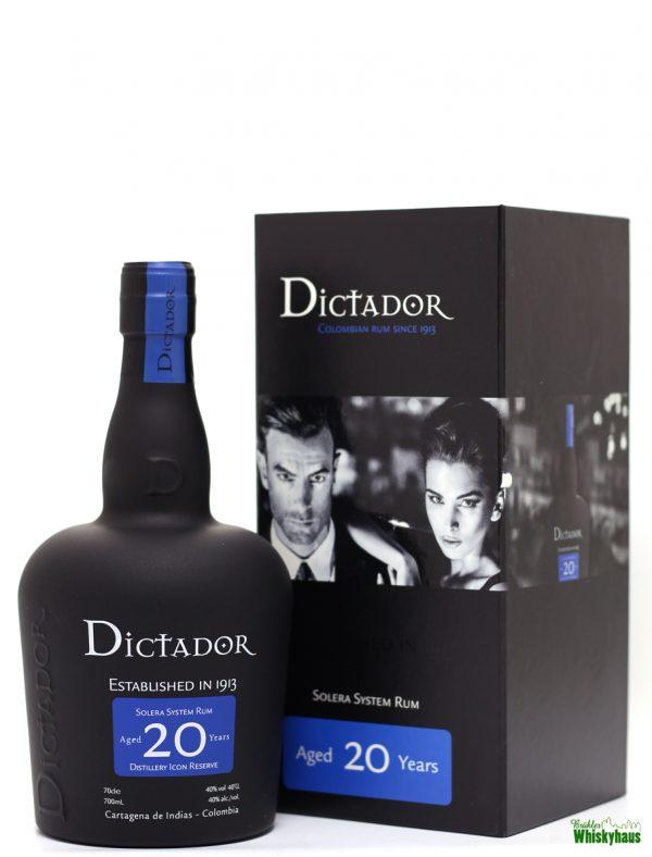 Dictador 20 Jahre - Solera System Rum aus Kolumbien