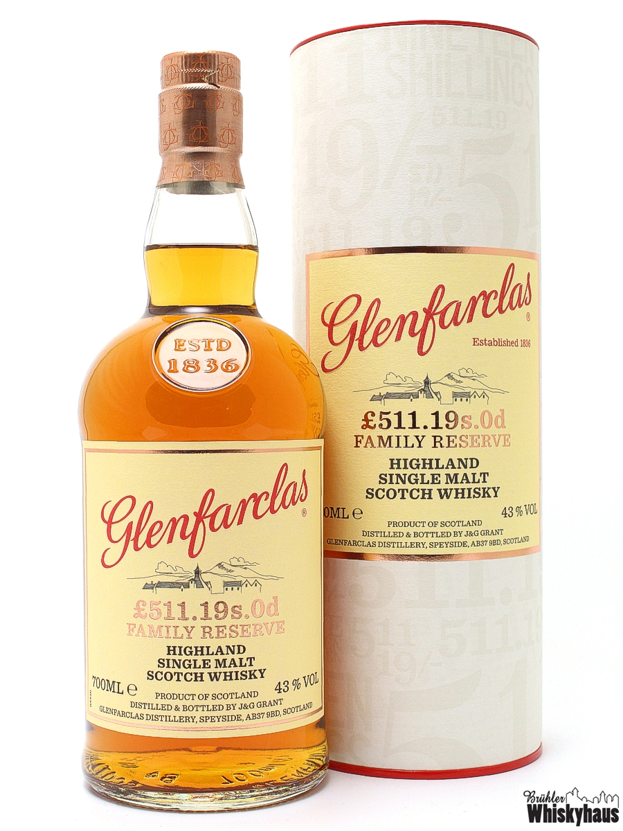 Glenfarclas £511.19s.Od Family Reserve - Highland Single Malt Scoth Whisky
