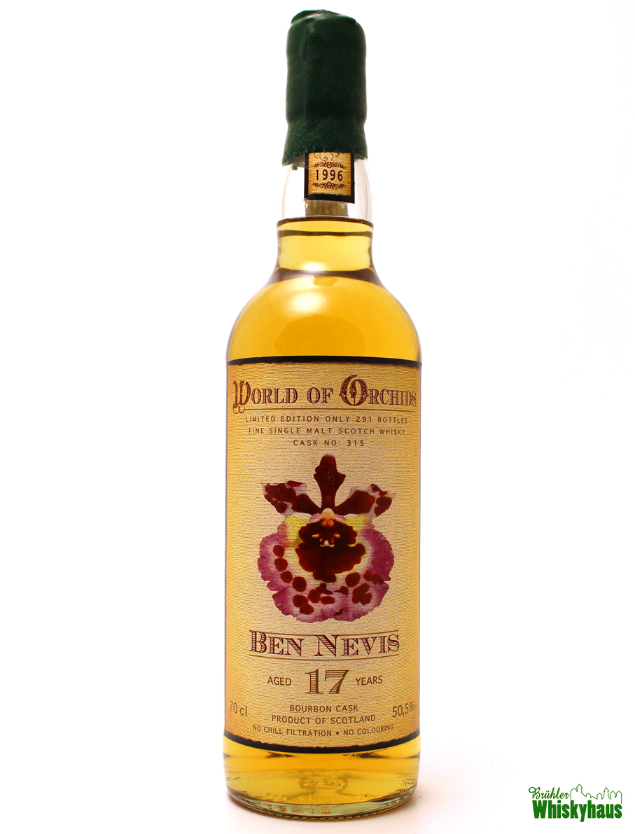Ben Nevis 17 Jahre - Bourbon Cask No. 315 - World of Orchids - Single Malt Scotch Whisky