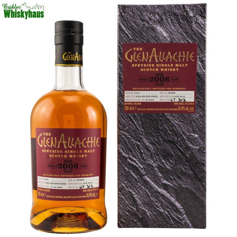 Glenallachie 11 Jahre - Rioja Red Wine Barrel No. 4419 - Speyside Single Malt Scotch Whisky