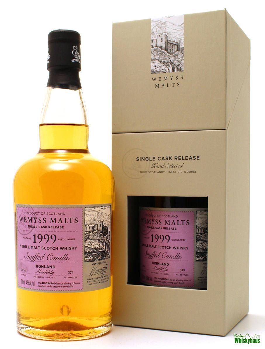 "Aberfeldy 14 Jahre ""Snuffed Candle"" - Hogshead - Wemyss Malts - Single Malt Scotch Whisky"