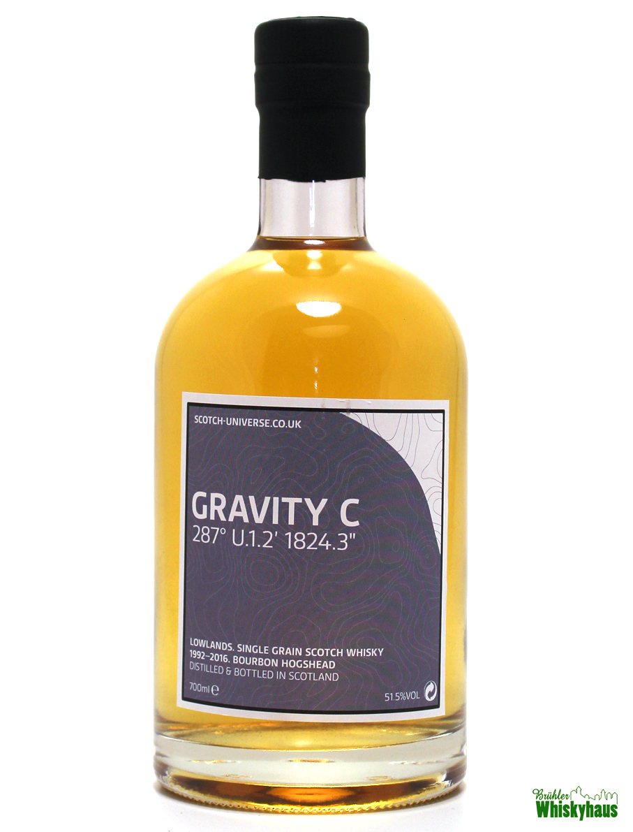 "Gravity C 287° U.1.2' 1824.3"" - 23 Jahre - Bourbon Hogshead - Scotch Universe - Single Grain Scotch Whisky"