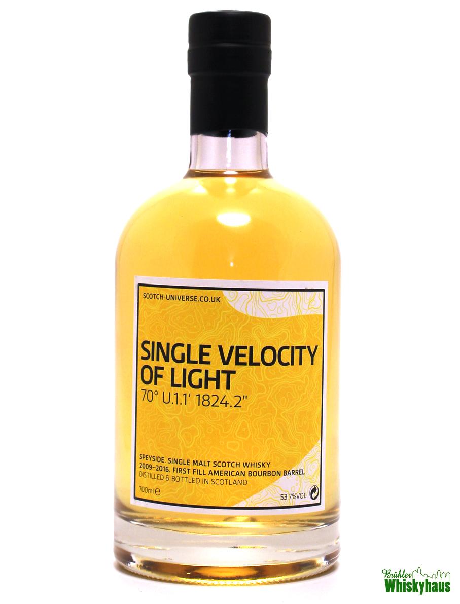 """Single Velocity of Light 70° U.1.1' 1824.2"""" - 6 Jahre - 1st Fill Bourbon Barrel - Scotch Universe - Single Malt Scotch Whisky"""