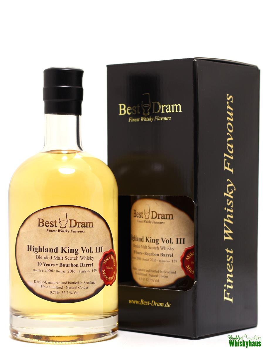 Highland King Vol. III - 10 Jahre - Bourbon Barrel - Best Dram - Blended Malt Scotch Whisky