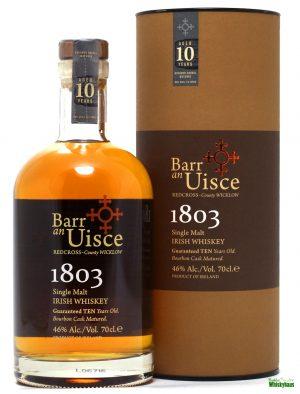 Barr An Uisce 10 Jahre - 1st Fill Bourbon - Wicklow Hills Wiskey - Blended Irish Whiskey