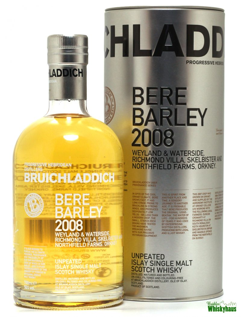 Bruichladdich Bare Barley 2008 - Unpeated Islay Single Malt Scotch Whisky