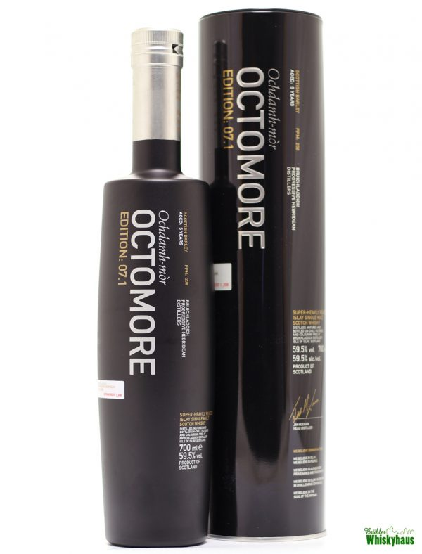 Octomore Edition 07.1 - 5 Jahre - Bruichladdich Distillery - Super-Heavily Peated Islay Single Malt Scotch Whisky