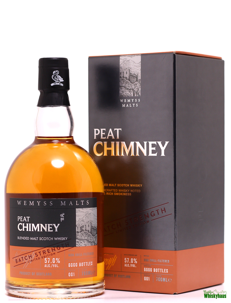 Peat Chimney - Batch Strength Limited Edition - Batch N° 001 - Wemyss Malts - Blended Malt Scotch Whisky