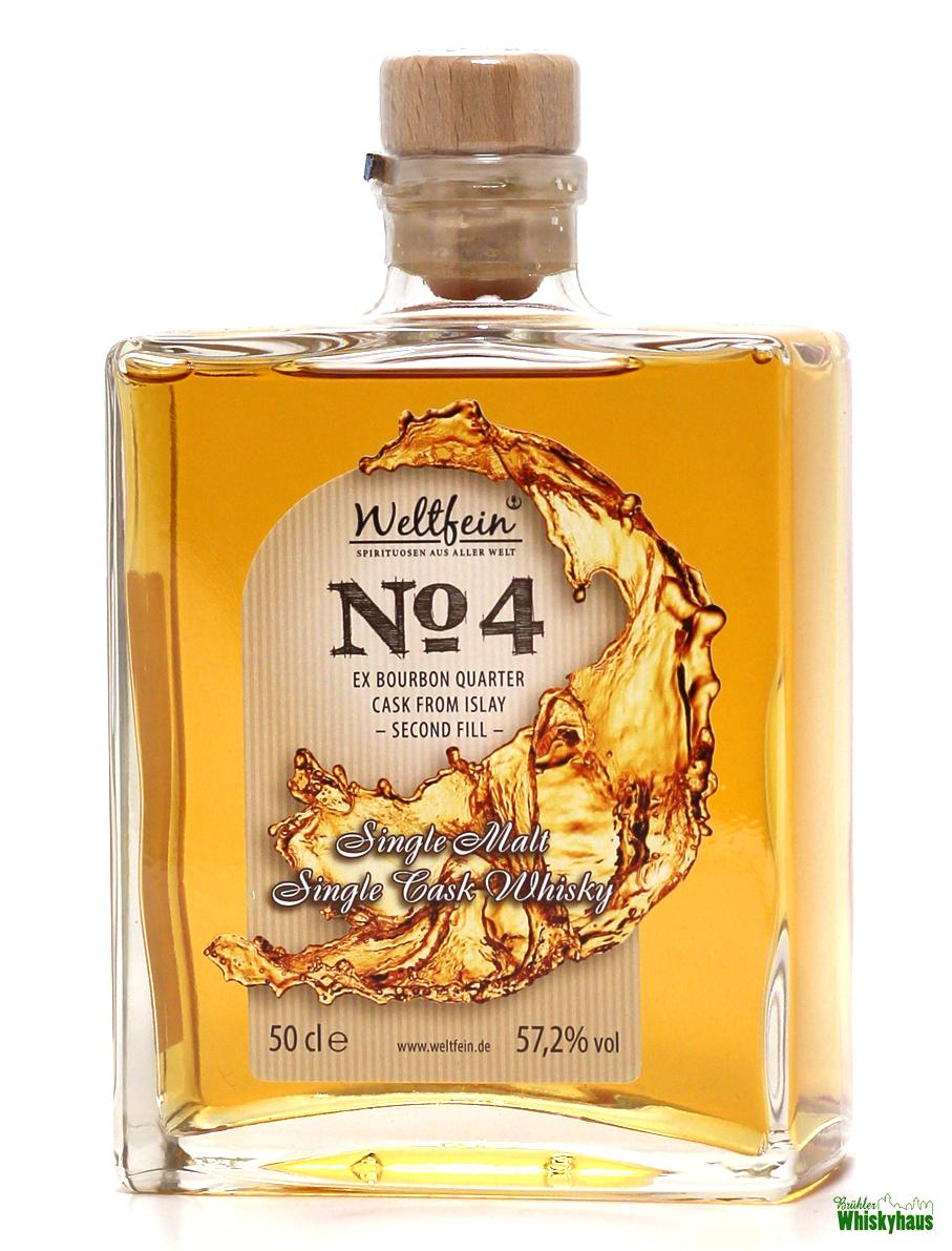 Weltfein N°4 - 3 Jahre- 2nd Fill ex-Bourbon Quater Cask N°082 - Single Malt Whisky