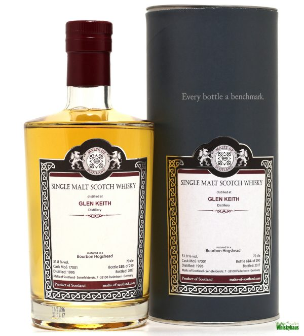 Glen Keith 21 Jahre - Bourbon Hogshead MoS 17001 - Malts of Scotland - Single Malt Scotch Whisky
