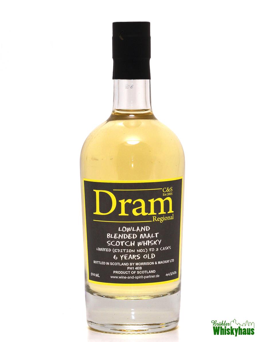Lowland Blended Malt Scotch Whisky 6 Jahre - Edition No.1 - C&S Dram Regional