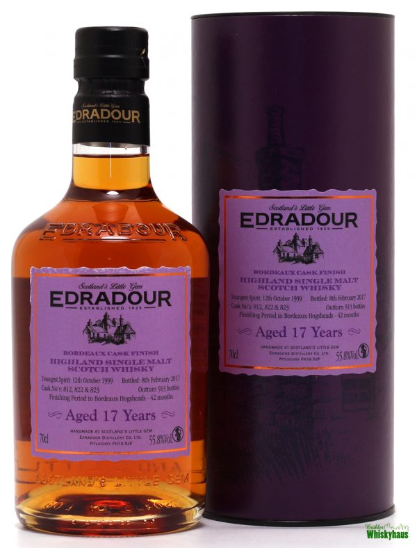 Edradour 17 Jahre - 42 Months Bordeaux Cask Finish - Highland Single Malt Scotch Whisky