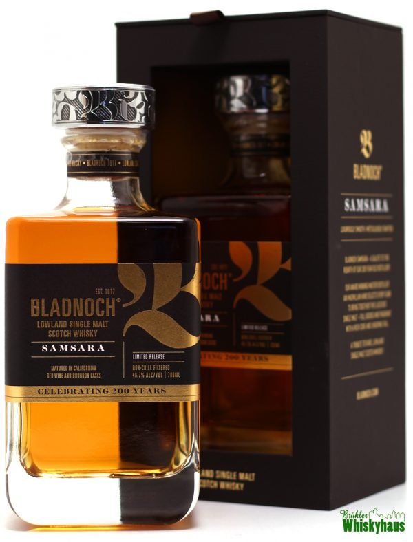 "Bladnoch SAMSARA ""Celebration 200 Years"" 8 Jahre - Lowland Single Malt Scotch Whisky"