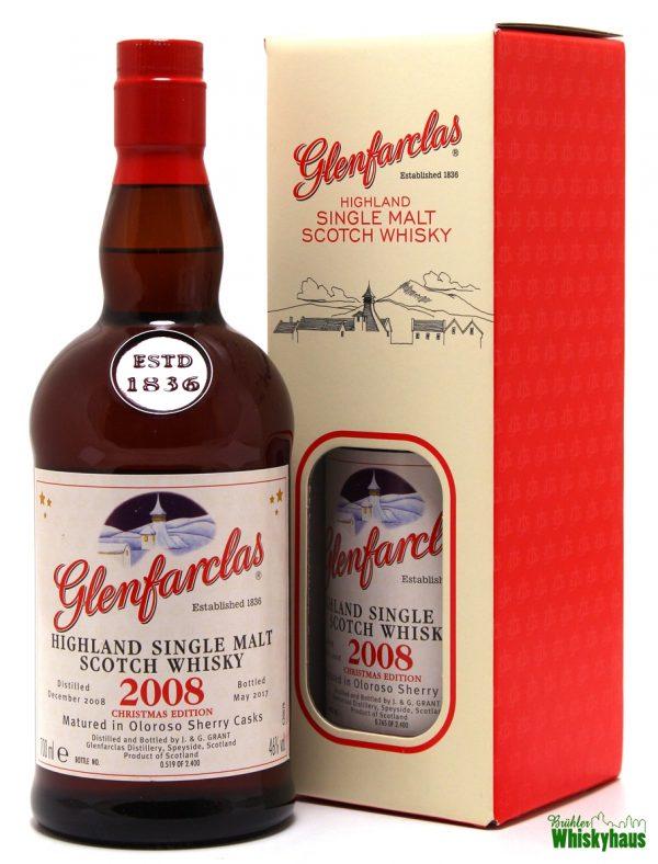 Glenfarclas Christmas Edition Vintage 2008 Oloroso Sherry Cask Matured - Single Malt Scotch Whisky