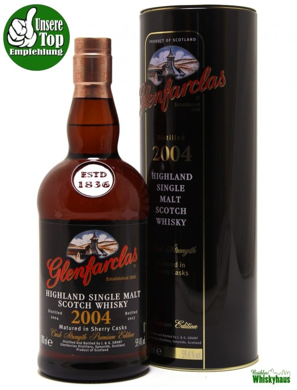 Glenfarclas Vintage 2004 - Cask Strength Premium Edition - Sherry Casks Matured - Single Malt Scotch Whisky