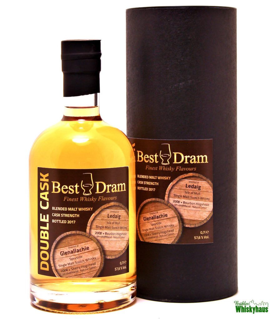 Glenallachie & Ledaig 8 Jahre – Double Cask - Bourbon & Sherry Hogsheads – Best Dram – Blended Malt Scotch Whisky