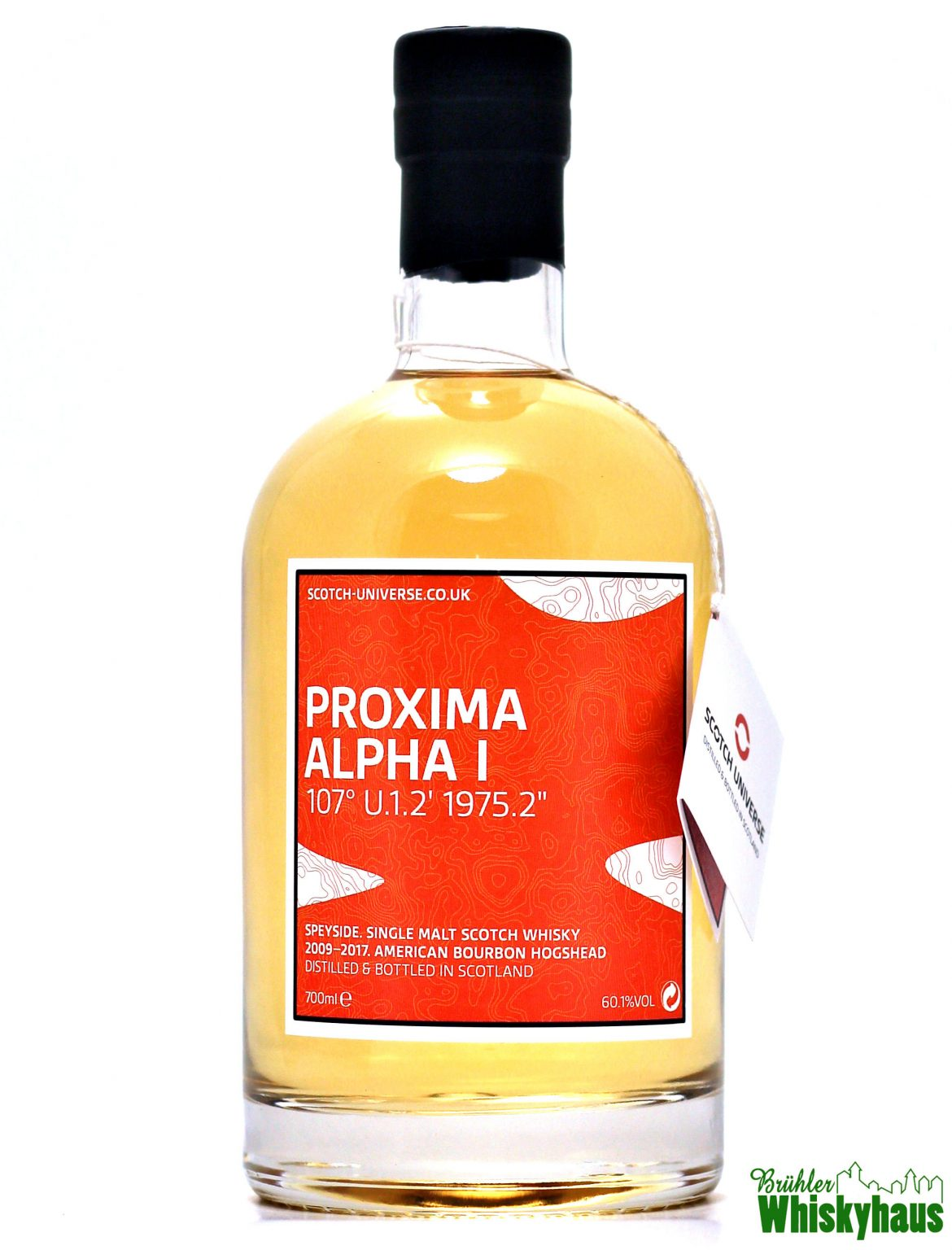 "PROXIMA ALPHA I – 107° U.1.2' 1975.2"" - 8 Jahre – American Bourbon Hogshead – Scotch Universe – Single Malt Scotch Whisky"