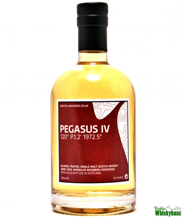 "Pegasus IV 120° P.1.2' 1972.5"" – 10 Jahre - American Bourbon Hogshead - Scotch Universe - Islands Single Malt Scotch Whisky"