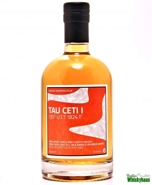 "Tau Ceti I 135° U.1.1' 1824.1"" – 12 Jahre - 1st Fill 'Jack Daniels' Bourbon Barrel - Scotch Universe - Islands Single Malt Scotch Whisky"