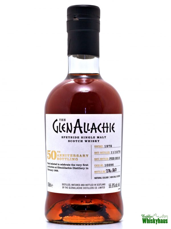"Glenallachie ""50th Anniversary Bottling"" 39 Jahre - Cask No. 10296 - Speyside Single Malt Scotch Whisky"