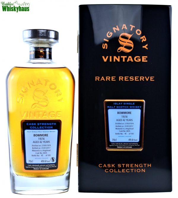 Bowmore Vintage 1974 - 42 Jahre - Hogshead No. 4435 - Signatory Vintage Rare Reserve - Single Malt Scotch Whisky