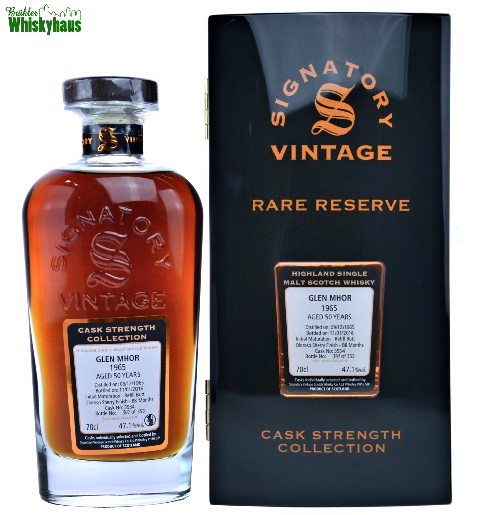 Glen Mhor 1965 - 50 Jahre - Oloroso Sherry Finish No. 3934 - Signatory Vintage Rare Reserve - Single Malt Scotch Whisky