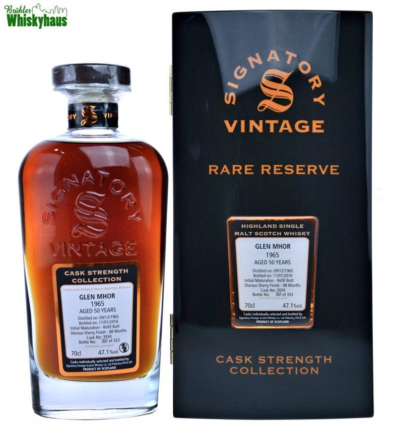 Glen Mhor 1965 - 50 Jahre - Oloroso Sherry Finish No. 3934 - Signatory Vintage Rare Reserve - Single Malt Scotch Whisky