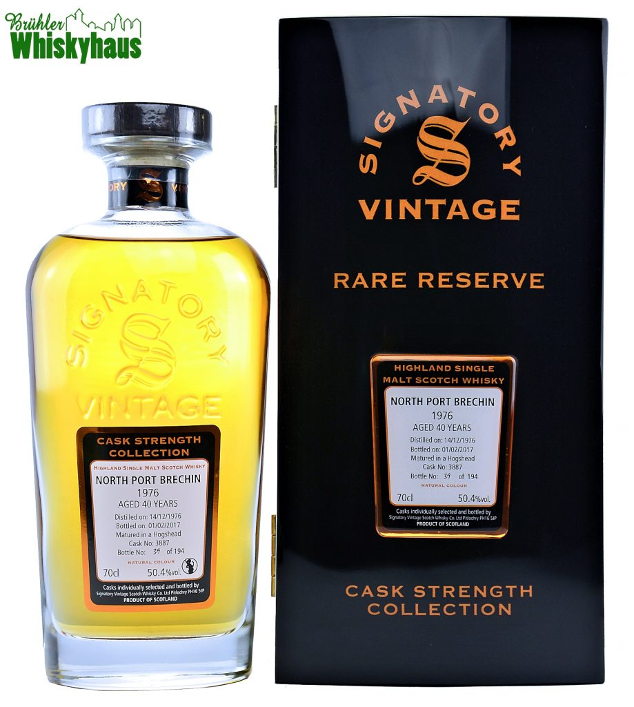 North Porth Brechin Vintage 1976 - 40 Jahre - Hogshead No. 3887 - Signatory Vintage Rare Reserve - Single Malt Scotch Whisky