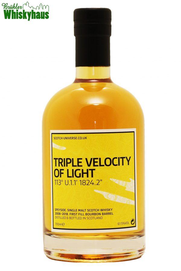 """Triple Velocity of Light - 113° U.1.1' 1824.2"""" - 9 Jahre - 1st Fill Bourbon Barrel - Scotch Universe - Single Malt Scotch Whisky"""