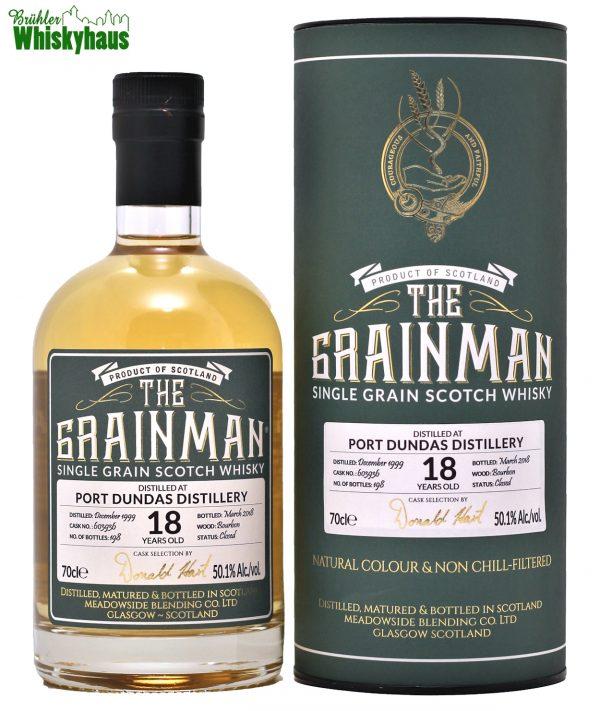 Port Dundas 18 Jahre - Bourbon Cask N° 603936 - The Grainman - Single Grain Scotch Whisky