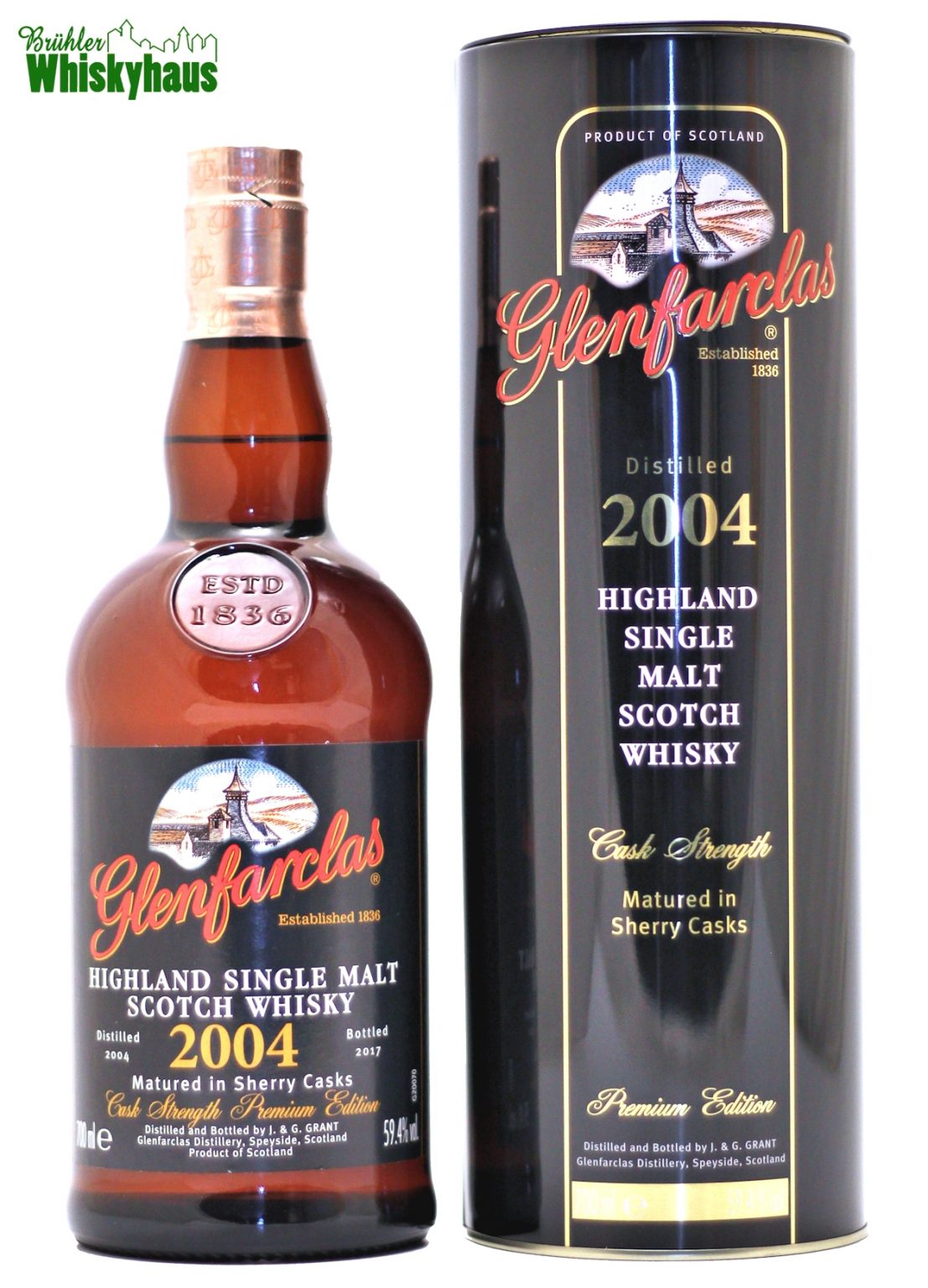 Glenfarclas Vintage 2004 - Cask Strength Premium Edition - Sherry Casks Matured - Single Malt Scotch Whisky