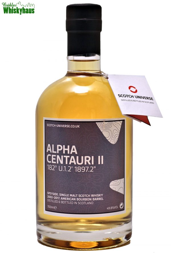 "Alpha Centauri II 182° U.1.2´ 1897.2"" 15 Jahre- American Bourbon Barrel - Scotch Universe - Scotch Single Malt Whisky"