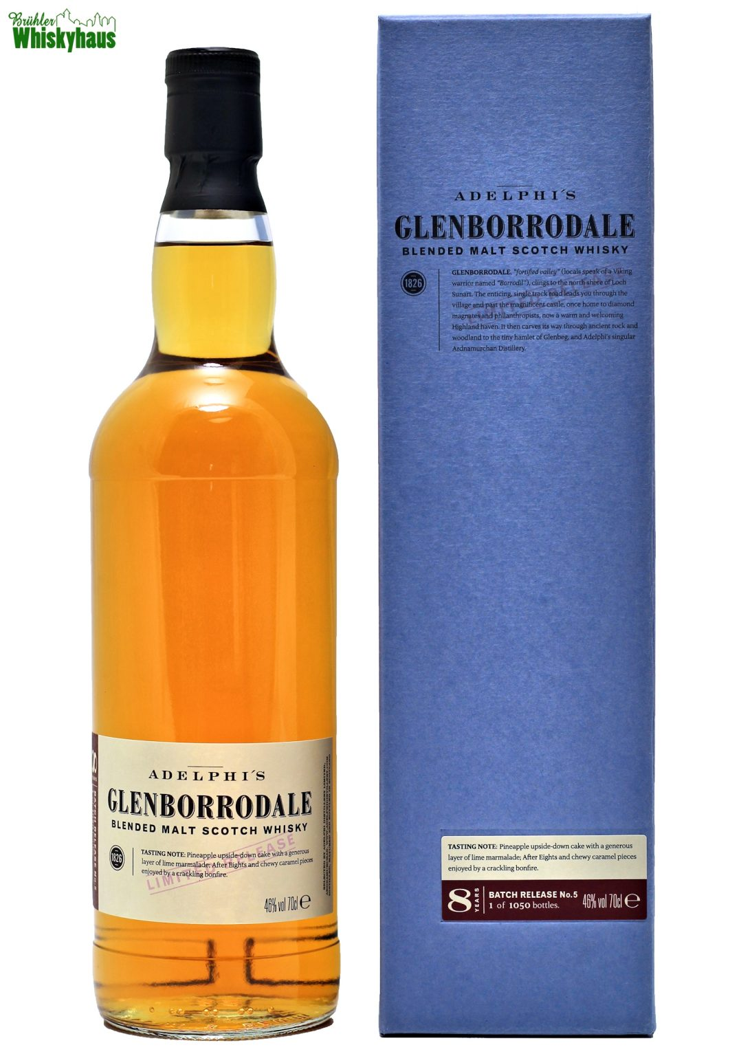 Adelphies Glenborrodale 8 Jahre - Batch No. 5 - Blended Scotch Whisky