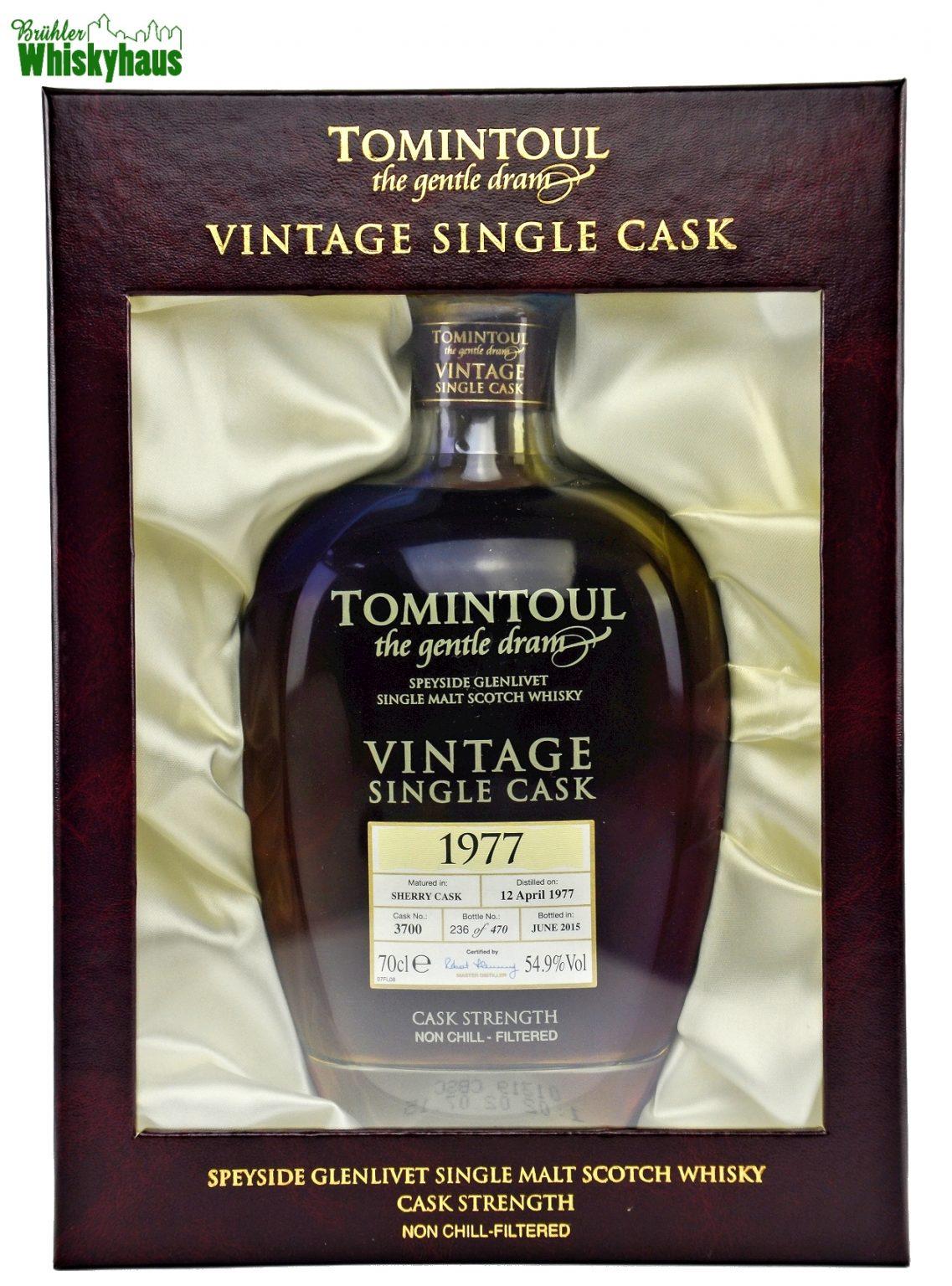 Tomintoul Vintage 1977 - 38 Jahre - Sherry Cask No. 3700 - Single Malt Scotch Whisky