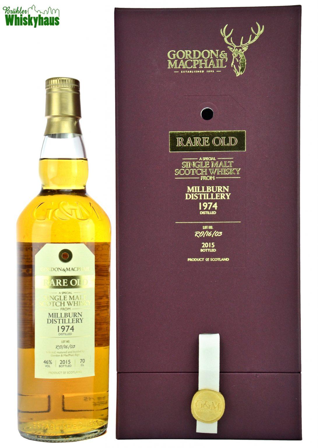 Millburn Vintage 1974 - 41 Jahre - Refill Sherry Cask No. RO/16/03 - Gordon & MacPhail - Single Malt Scotch Whisky