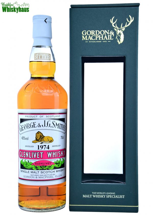 Glenlivet Vintage 1974 - 37 Jahre - Refill Sherry Cask - Gordon & MacPhail - Single Malt Scotch Whisky