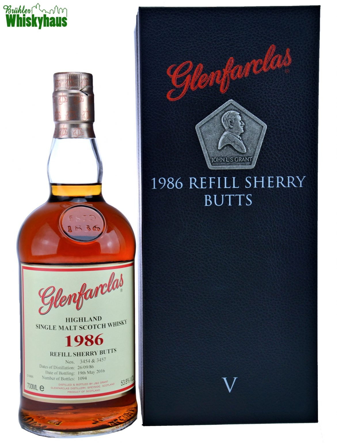 Glenfarclas Vintage 1986 - Generations V - 27 Jahre - Refill Sherry Butts No. 3454 & 3457 - Single Malt Scotch Whisky