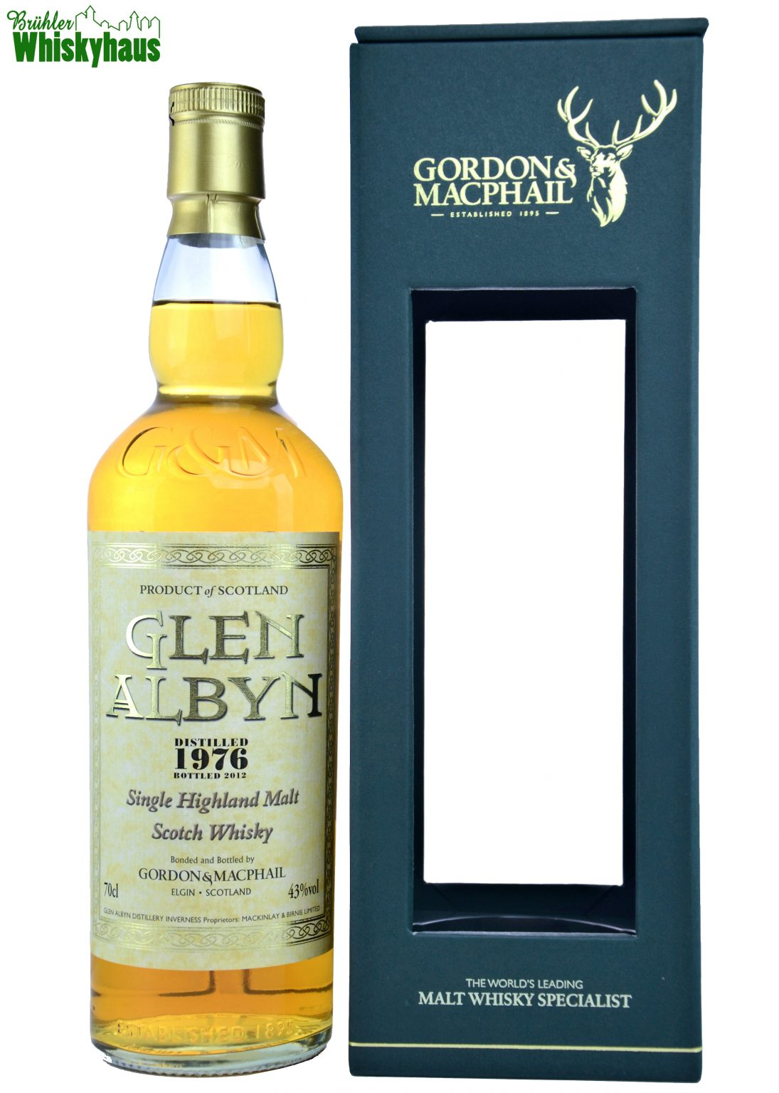 Glen Albyn Vintage 1976 - 35 Jahre - Refill Sherry Cask - Gordon & MacPhail - Single Malt Scotch Whisky