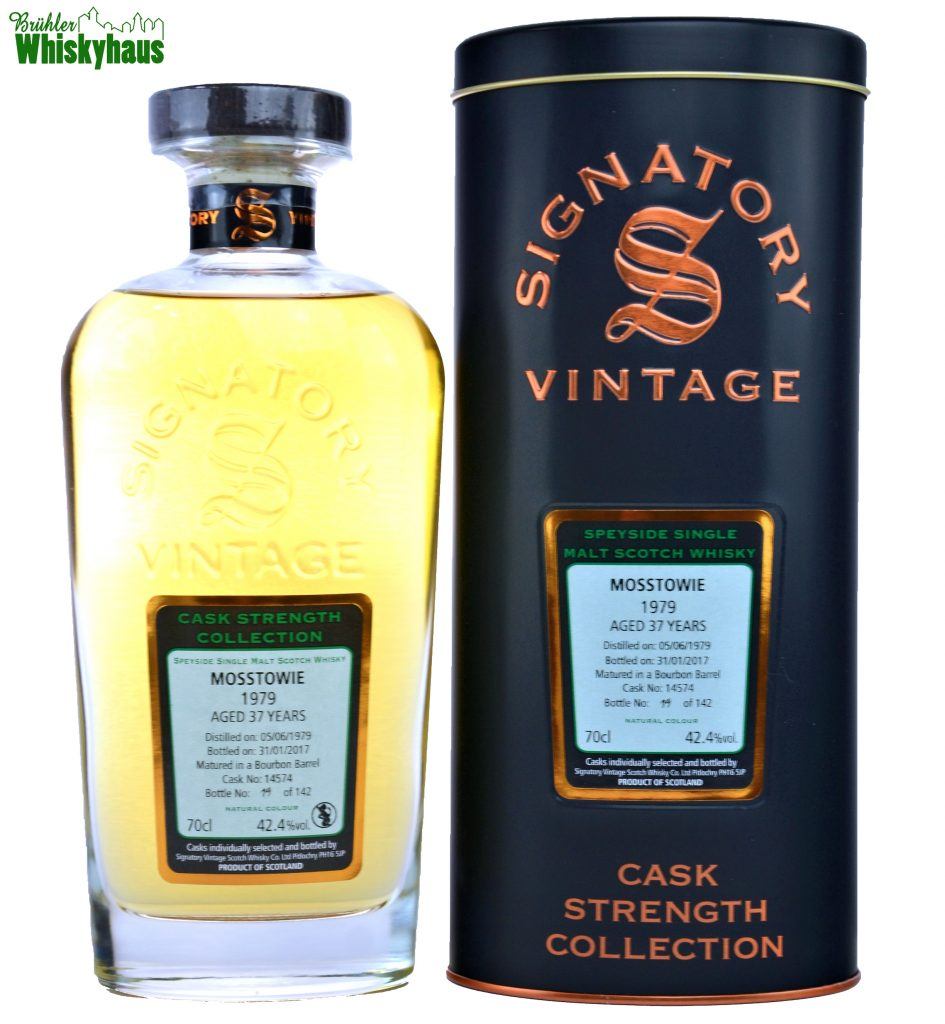 Mosstowie Vintage 1979 - 37 Jahre - Bourbon Barrel No. 14574 - Signatory Vintage Rare Reserve - Single Malt Scotch Whisky
