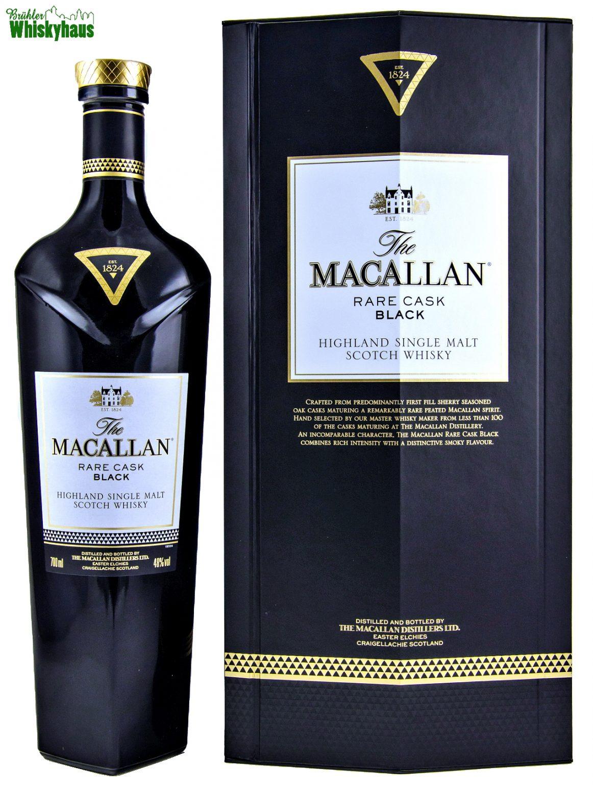 Macallan Rare Cask Black - First Fill Sherry Cask - Macallan Distillery Bottling - Single Malt Scotch Whisky