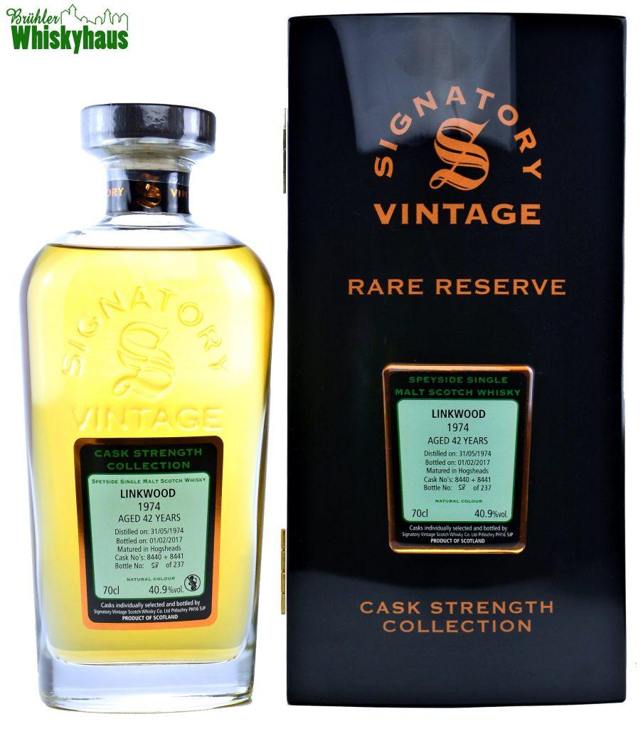 Linkwood Vintage 1974 - 42 Jahre - Refill Bourbon Hogsheads No. 8440 + 8441 - Signatory Vintage Rare Reserve - Single Malt Scotch Whisky