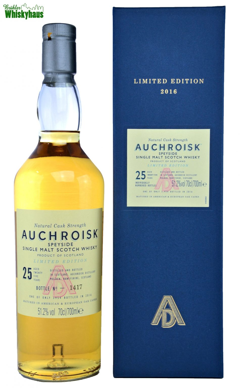 Auchroisk Vintage 1991 - 25 Jahre - Refill American & European Oak Cask - Single Malt Scotch Whisky
