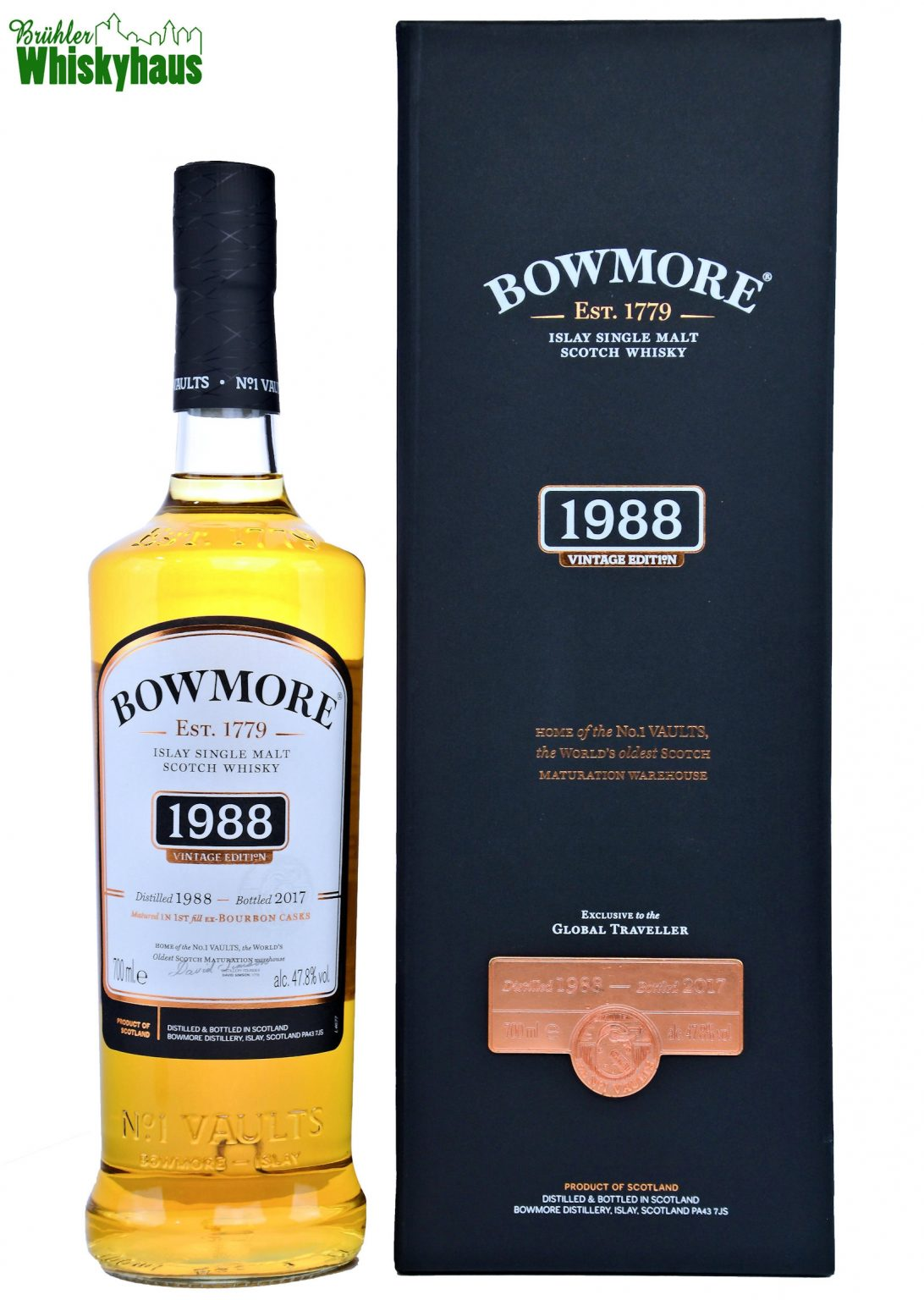 Bowmore Vintage 1988 - 29 Jahre - First Fill Ex-Bourbon Cask - Single Malt Scotch Whisky