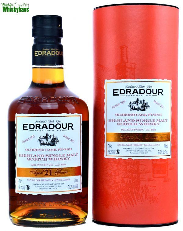 Edradour Vintage 1995 - 21 Jahre - Ex-Bourbon Hogsheads & First Fill Oloroso Sherry Butts - Single Malt Scotch Whisky