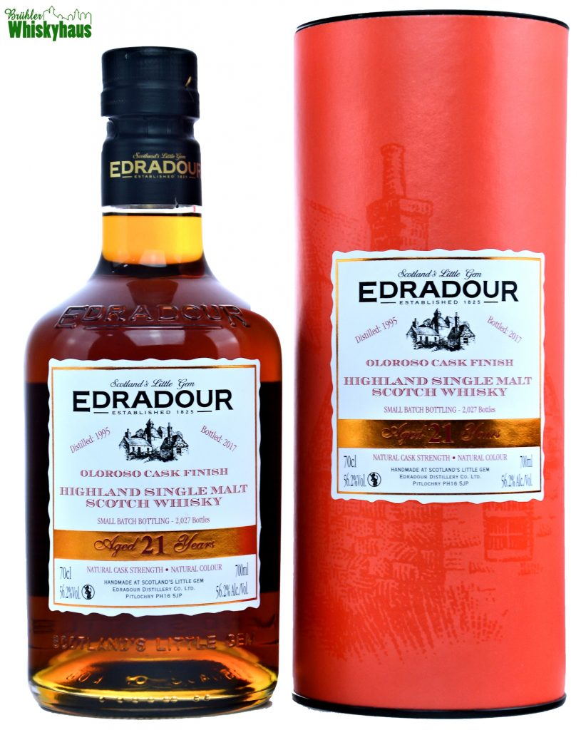 Edradour Vintage 1995 - 21 Jahre - Ex-Bourbon Hogsheads & First Fill Oloroso Sherry Butts - Single Malt Scotch Whisky