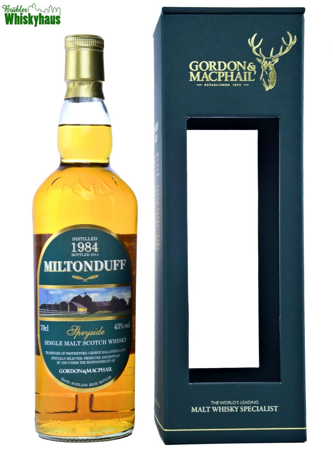 Miltonduff Vintage 1984 - 2014 - Refill Ex-Bourbon Barrels - Gordon & MacPhail - Single Malt Scotch Whisky