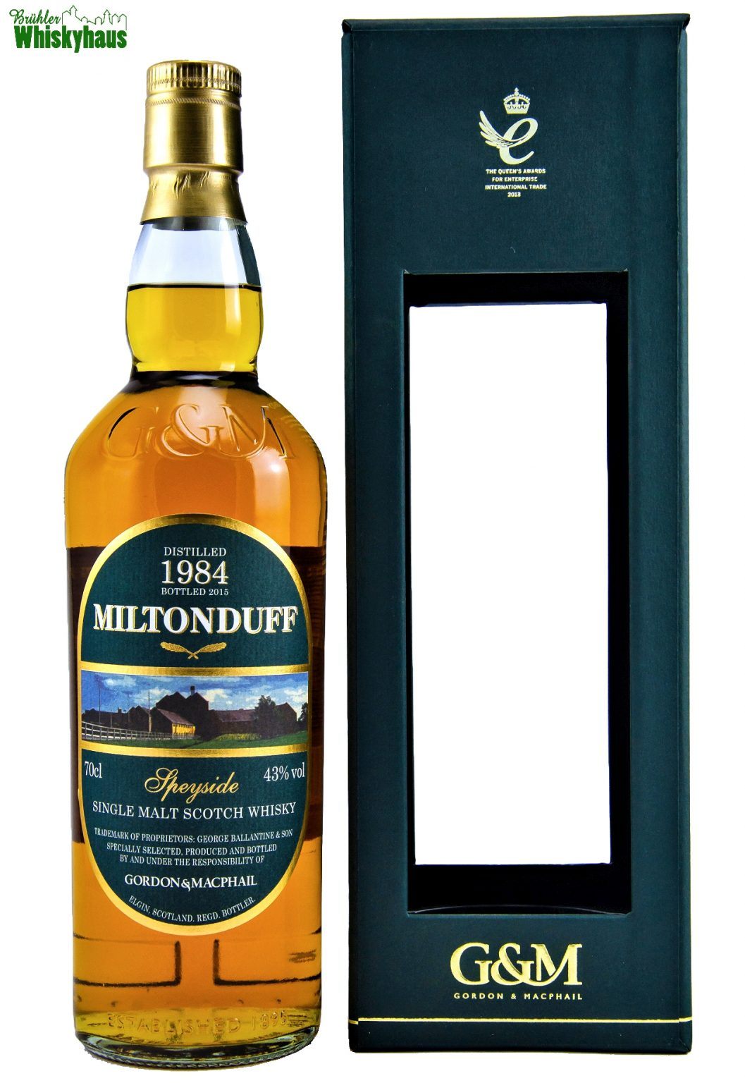 Miltonduff Vintage 1984 - 2015 - Refill Ex-Bourbon Barrels - Gordon & MacPhail - Single Malt Scotch Whisky